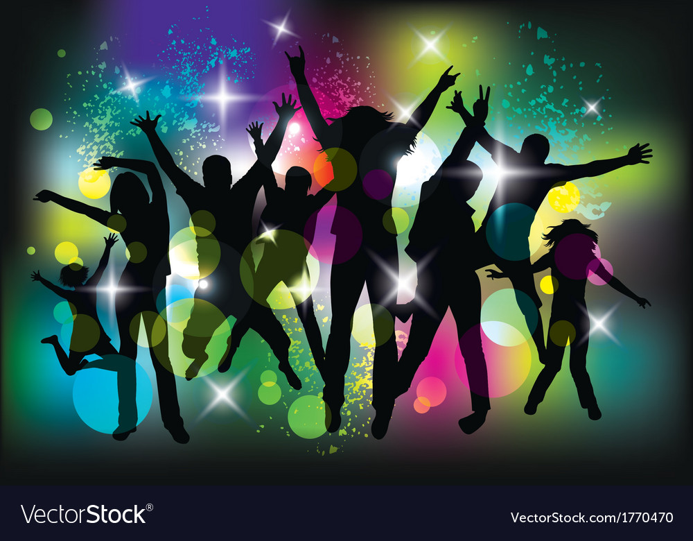 Young people on the party vector | Price: 1 Credit (USD $1)