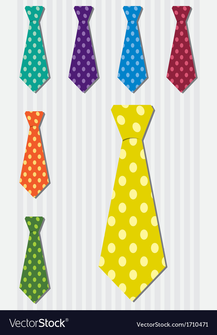 Bright polka dot silk tie stickers in format vector | Price: 1 Credit (USD $1)