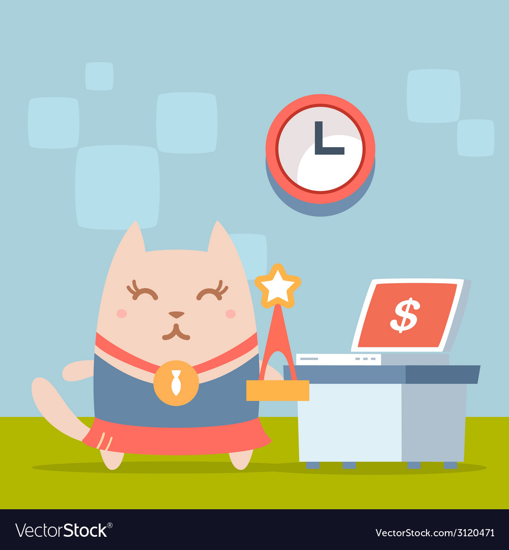 Character winner with a medal colorful flat vector   Price: 1 Credit (USD $1)