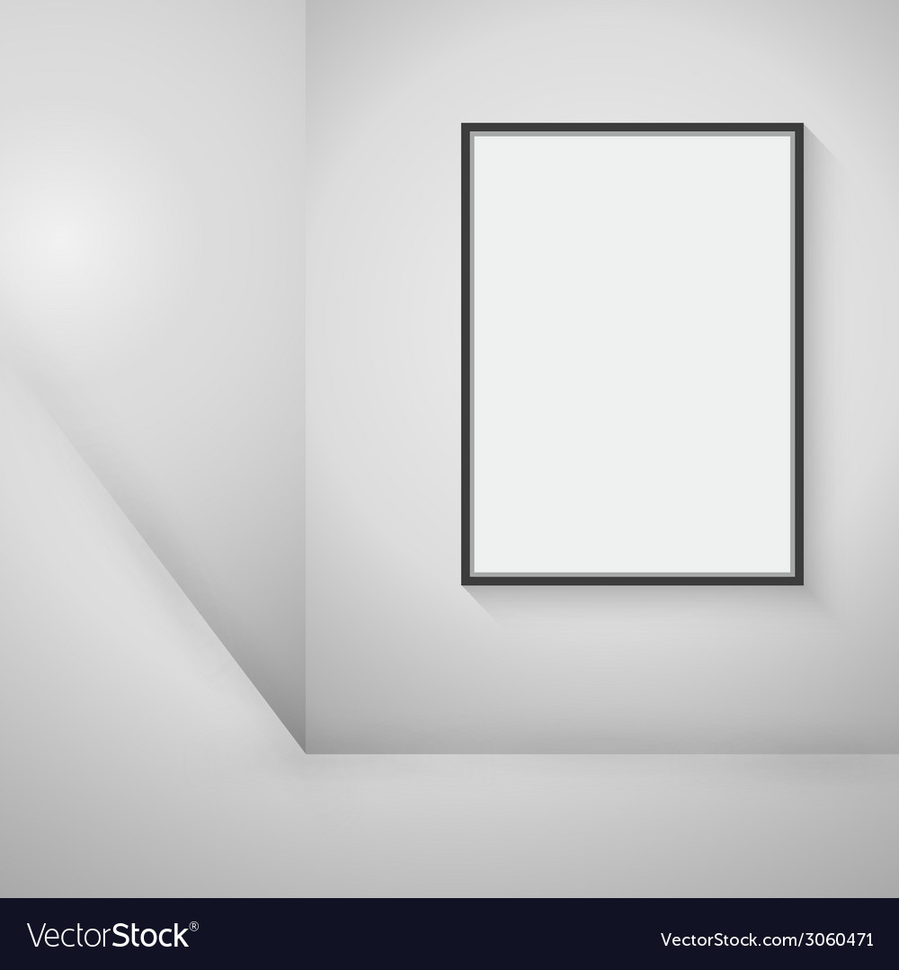Empty black frame hanging on the wall vector | Price: 1 Credit (USD $1)