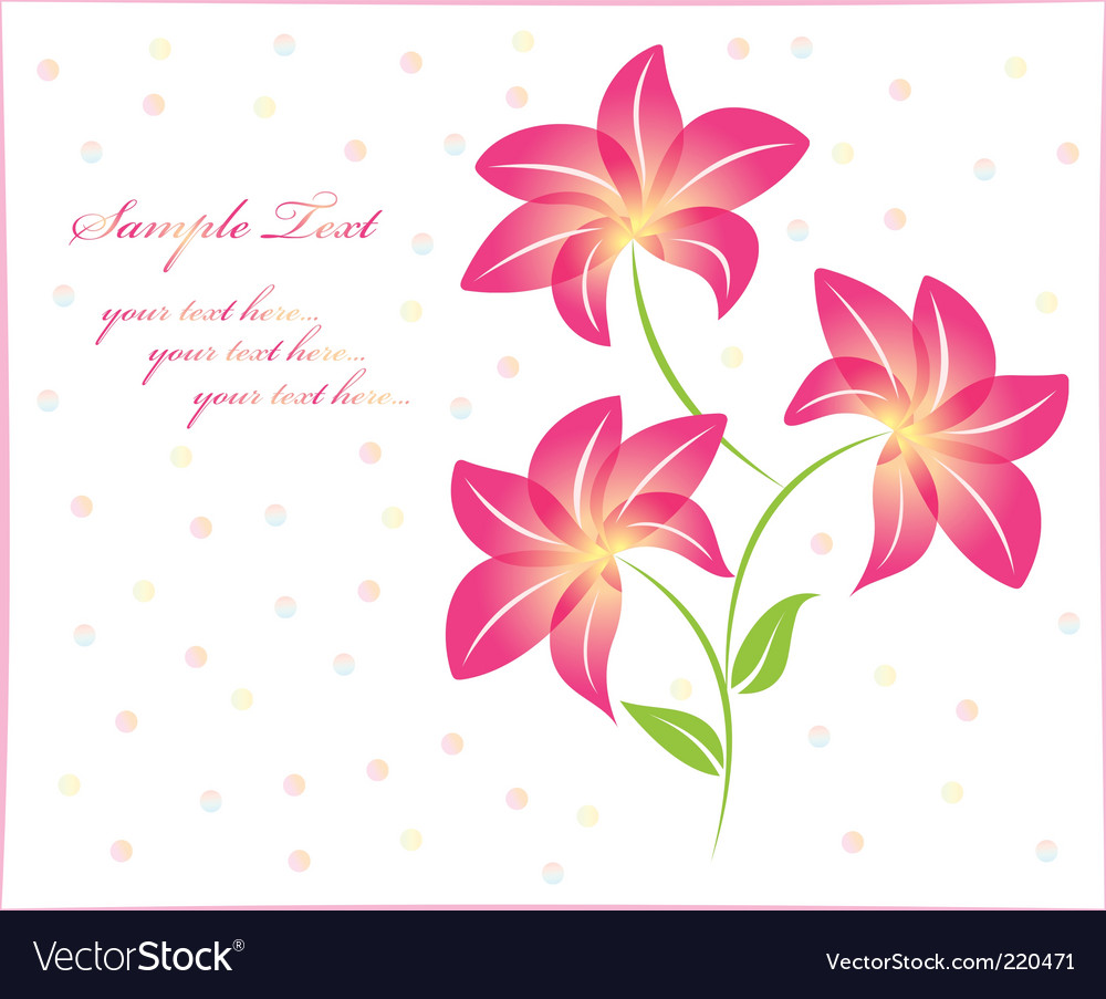 Flower background floral background isolated vector | Price: 1 Credit (USD $1)