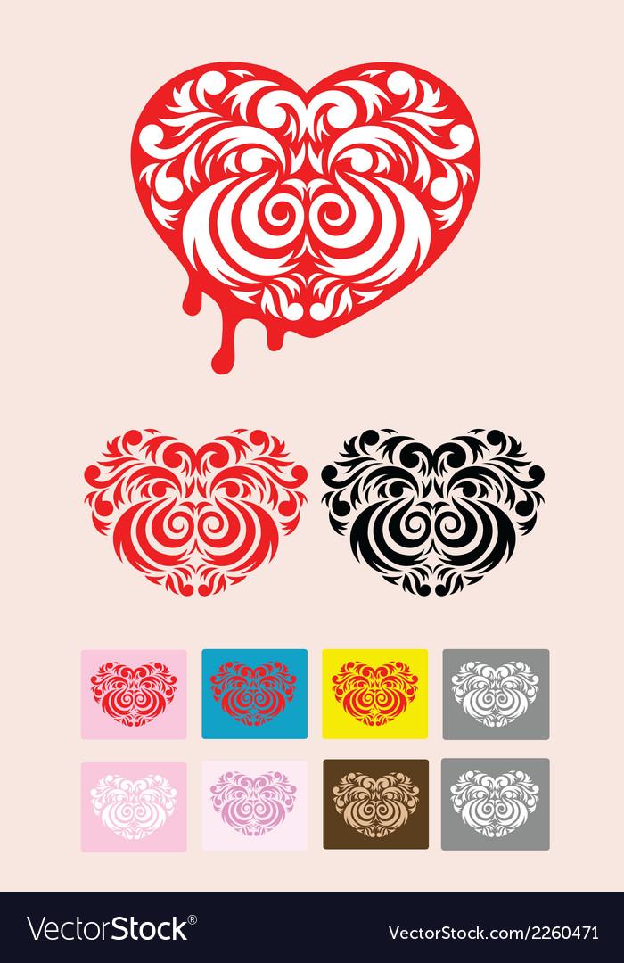 Heart decoration vector | Price: 1 Credit (USD $1)