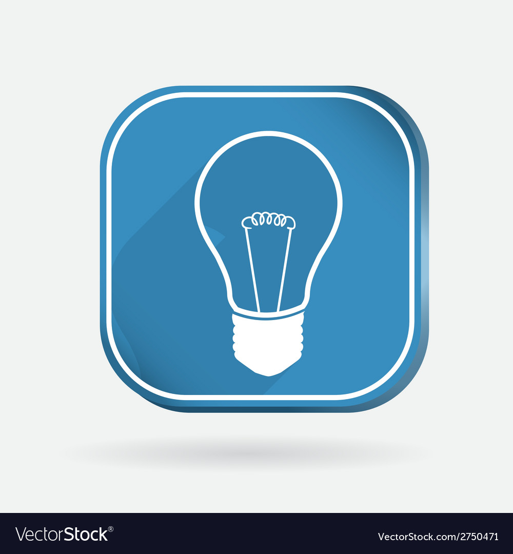 Incandescent lamp color square icon vector | Price: 1 Credit (USD $1)
