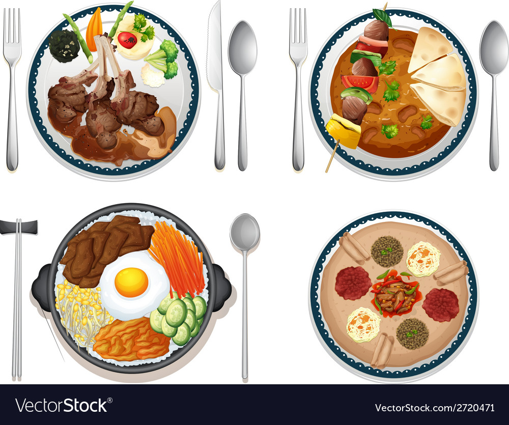 International food vector | Price: 1 Credit (USD $1)