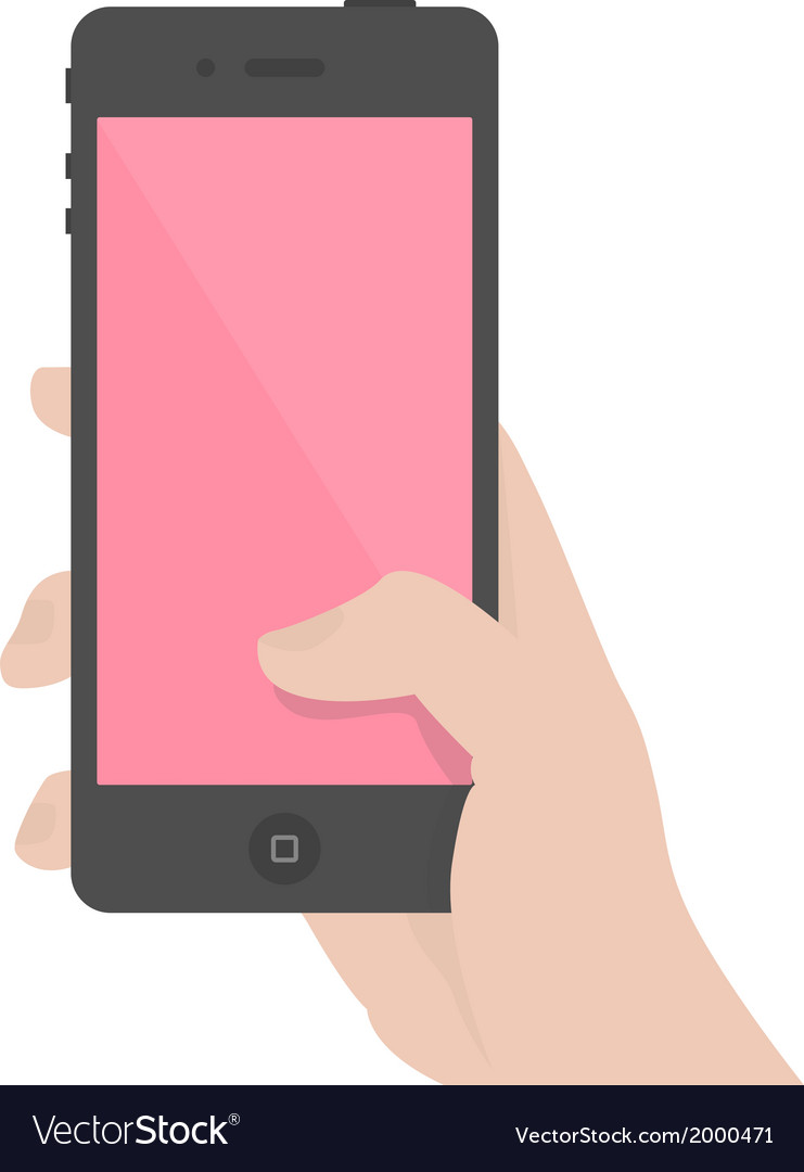 Iphone-in-hand vector | Price: 1 Credit (USD $1)