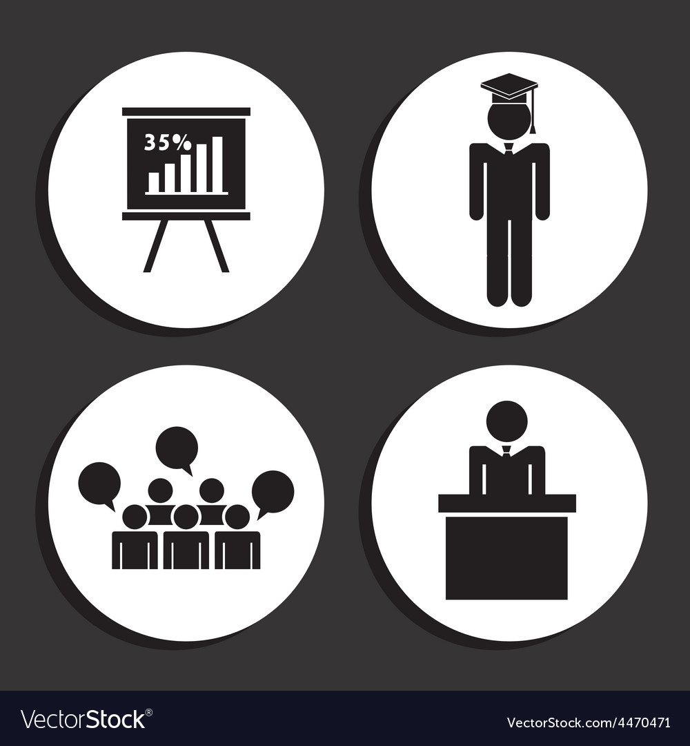 Learning icons vector | Price: 1 Credit (USD $1)