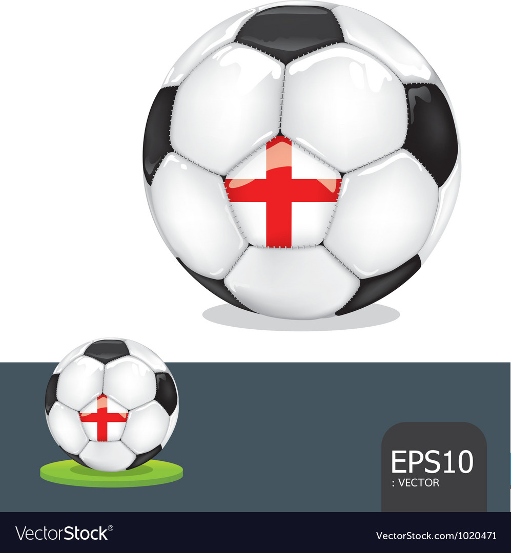 Soccer ball england vector | Price: 1 Credit (USD $1)