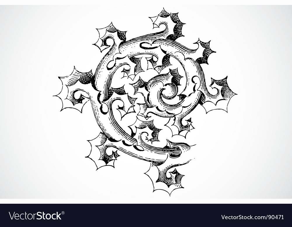 Thorn ornament vector | Price: 1 Credit (USD $1)