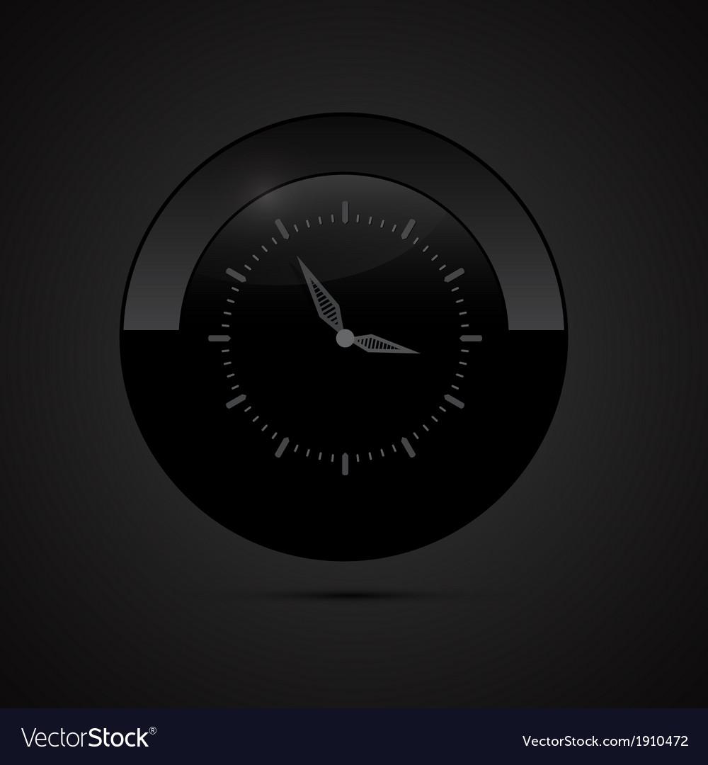 Black clock vector | Price: 1 Credit (USD $1)