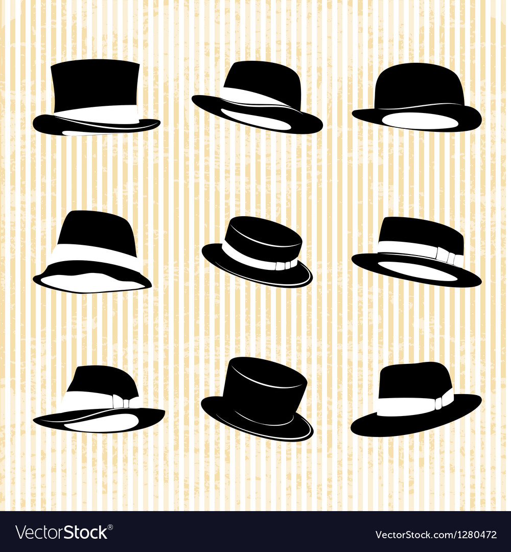 Collection of vintage hats vector   Price: 1 Credit (USD $1)