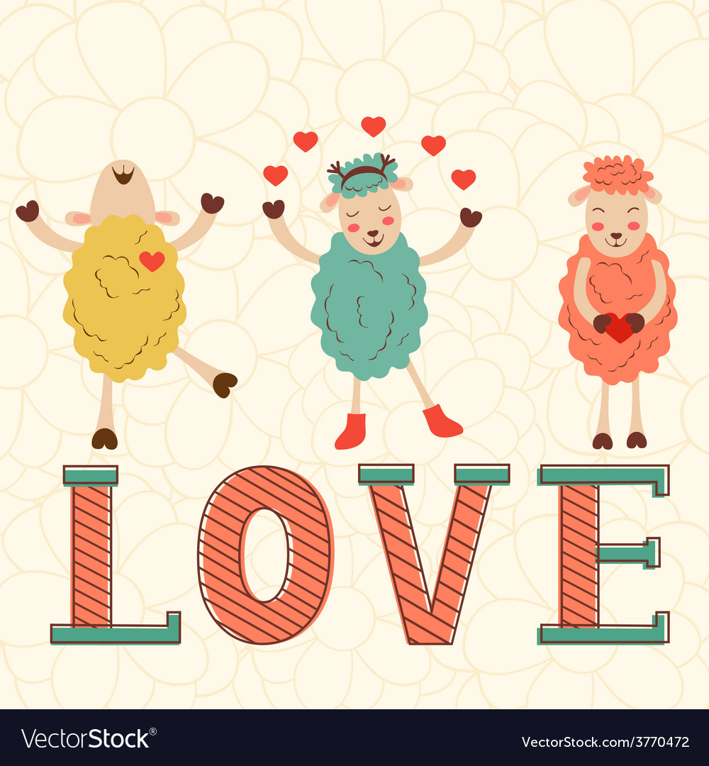 Cute valentines day card vector | Price: 1 Credit (USD $1)