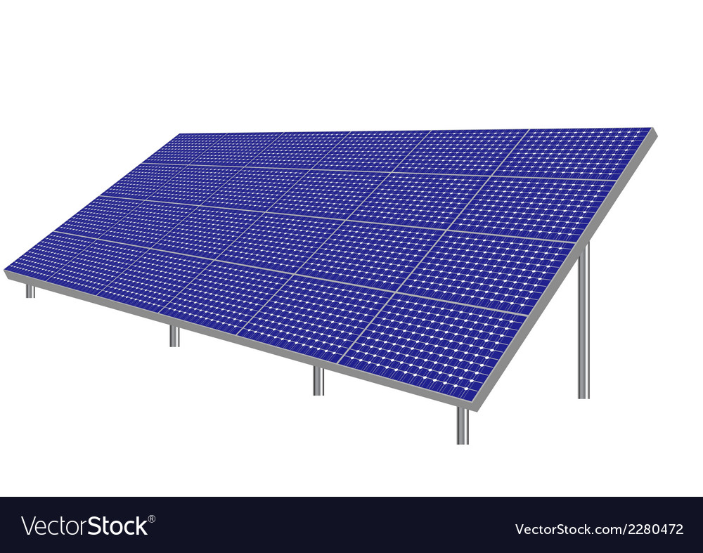 Solar panels vector | Price: 1 Credit (USD $1)