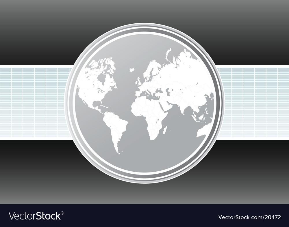 World map futuristic background vector | Price: 1 Credit (USD $1)