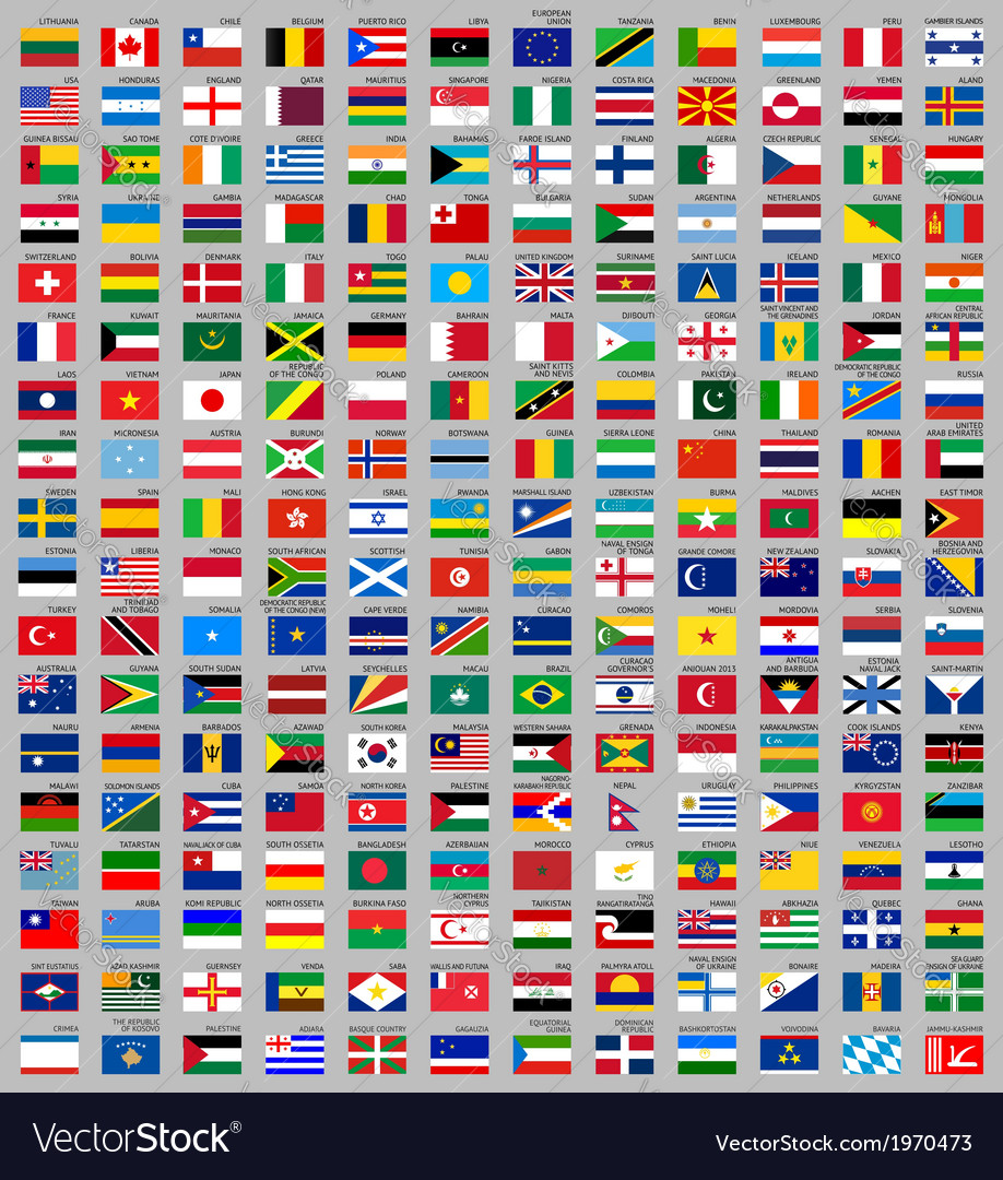 216 flags of the world vector | Price: 1 Credit (USD $1)