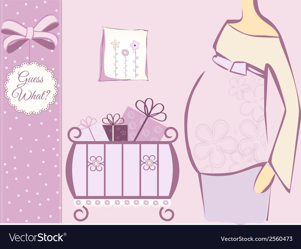 Baby shower invitation vector | Price: 1 Credit (USD $1)