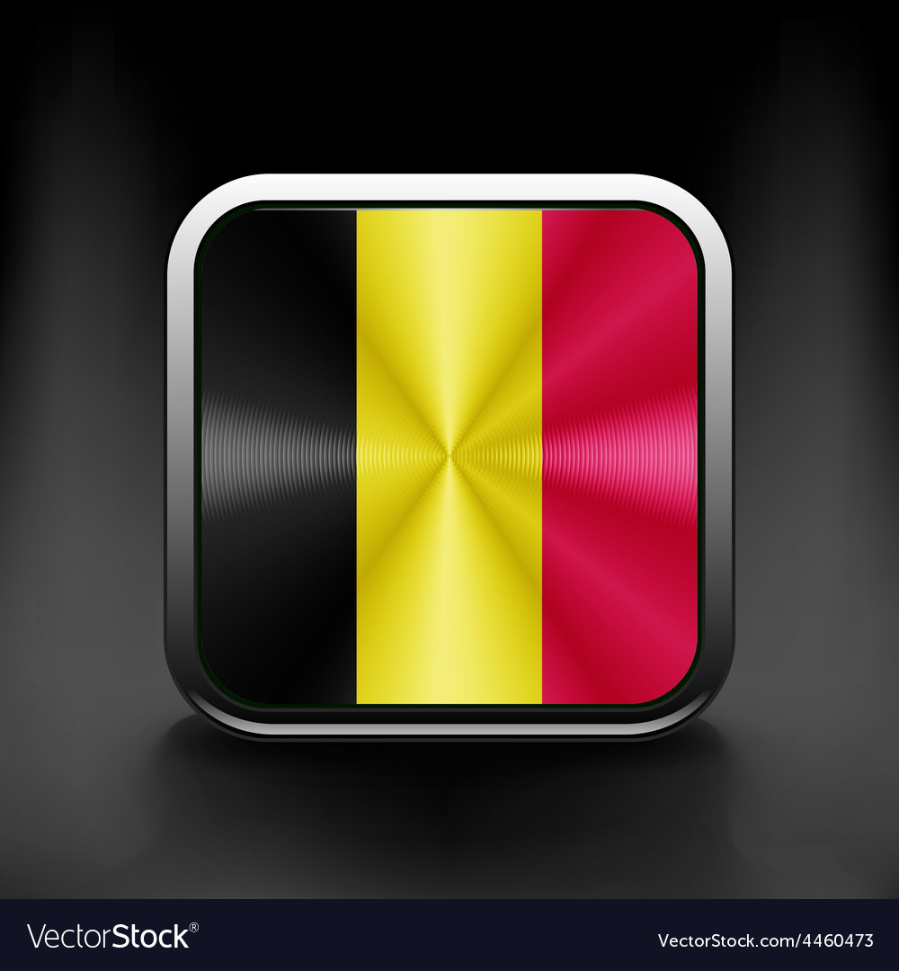 Belgium waving flag national travel icon country vector | Price: 1 Credit (USD $1)