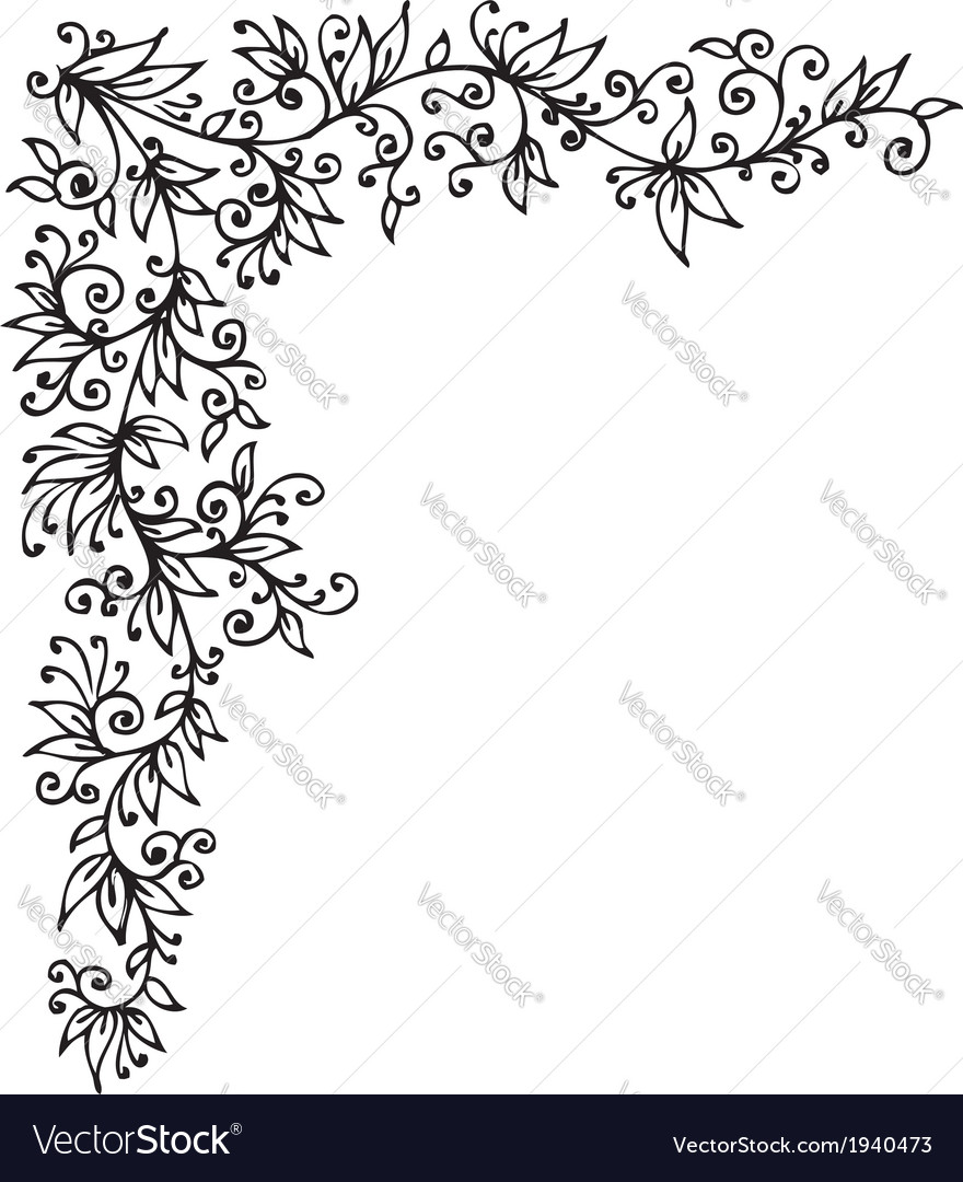 Floral vignette cccli vector | Price: 1 Credit (USD $1)