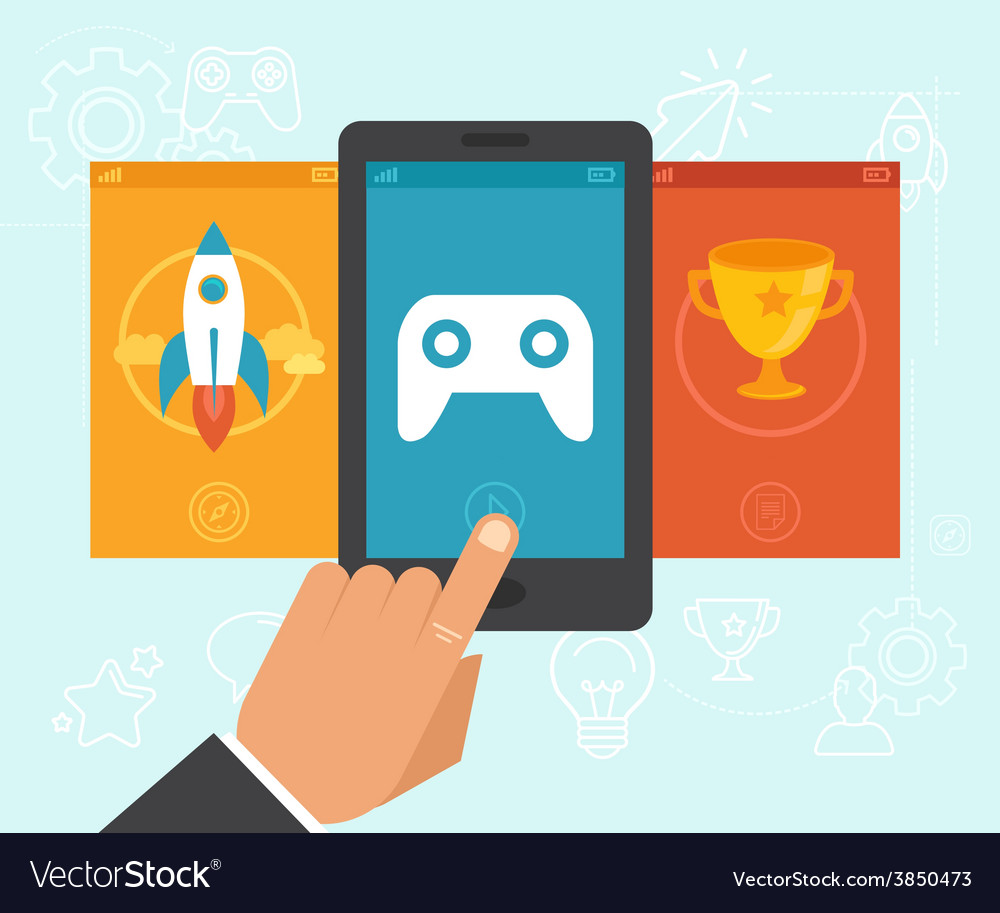 Gamification concept vector | Price: 1 Credit (USD $1)