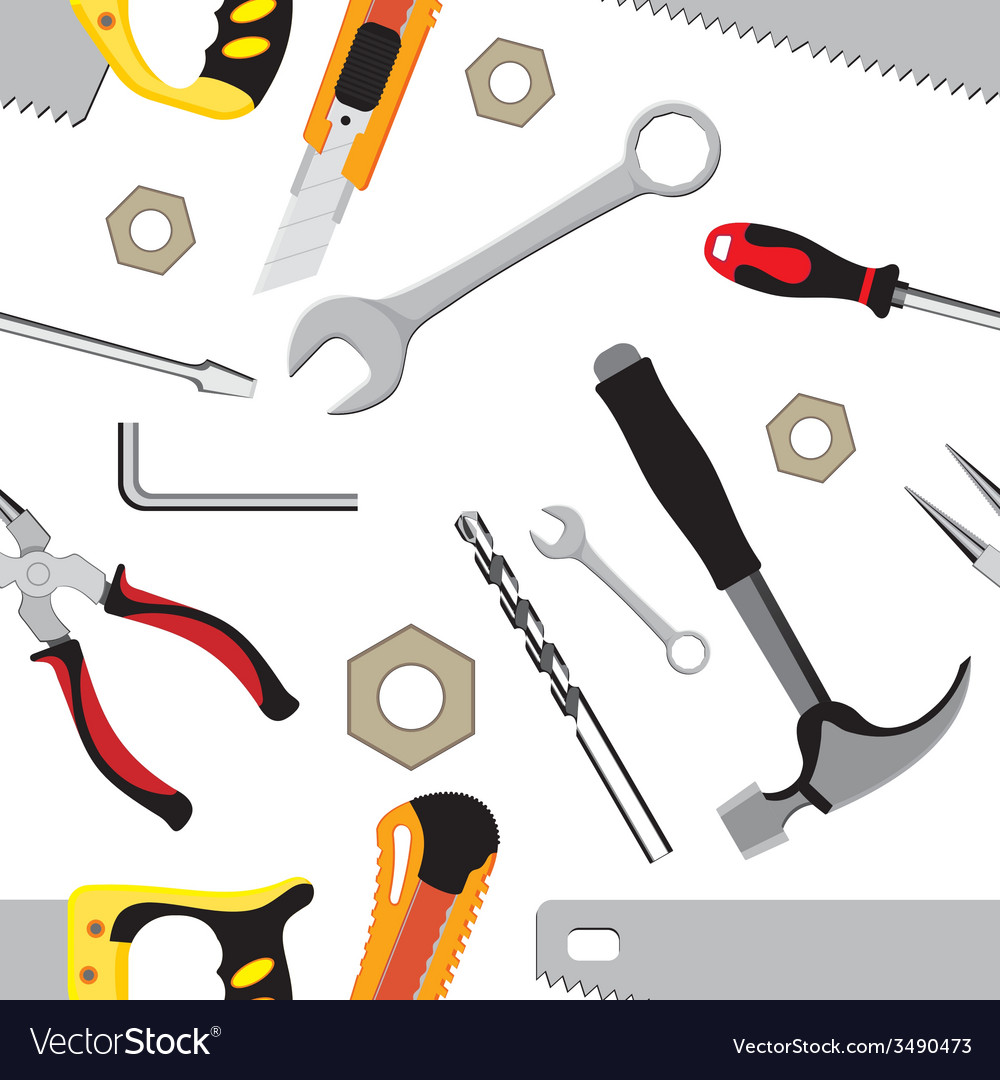 Hand tools background vector | Price: 1 Credit (USD $1)