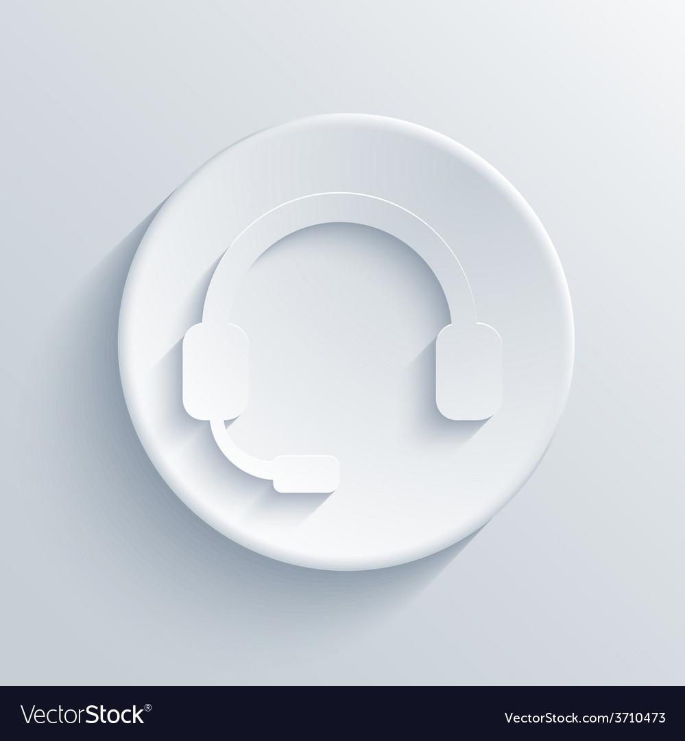 Modern headphones light circle icon vector | Price: 1 Credit (USD $1)