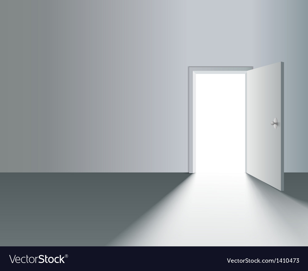 Open door in wall vector