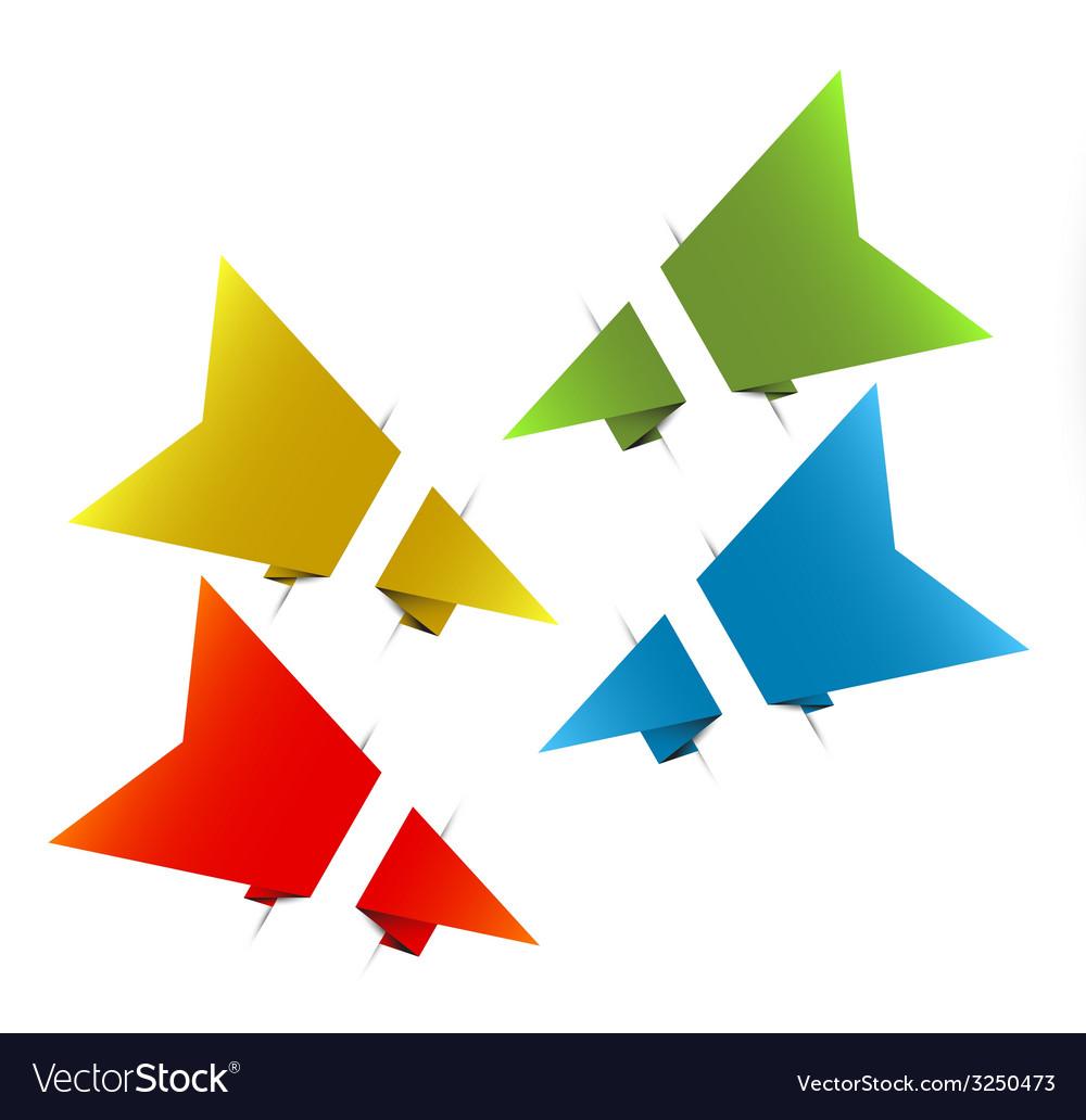 Paper origami arrows vector | Price: 1 Credit (USD $1)