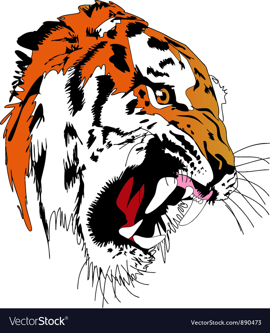 Tiger art vector | Price: 1 Credit (USD $1)