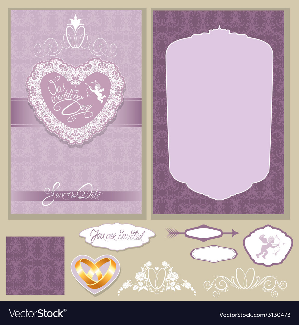 Wed invitation 3 380 vector | Price: 1 Credit (USD $1)