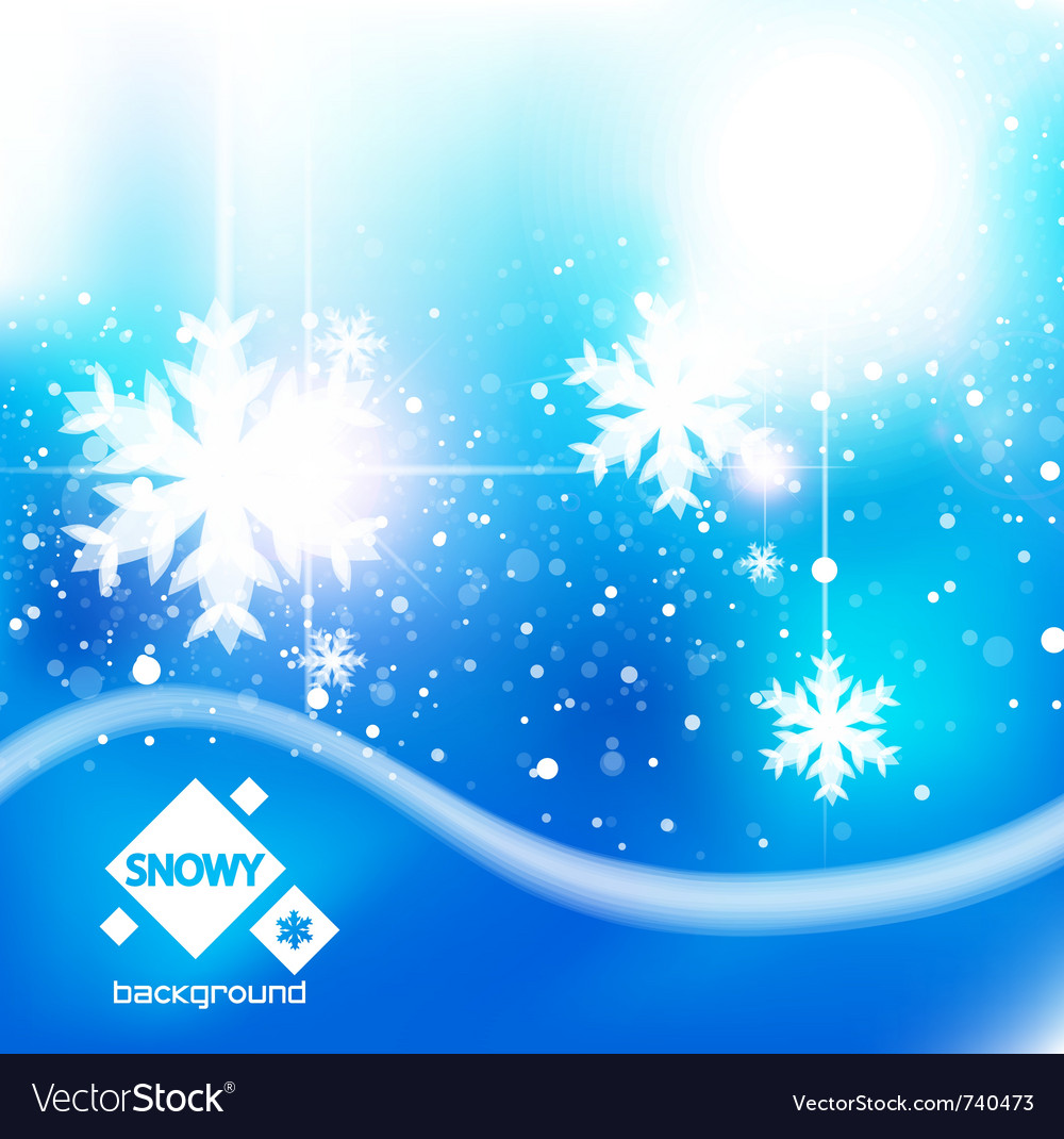 Winter snow blue christmas background vector | Price: 1 Credit (USD $1)