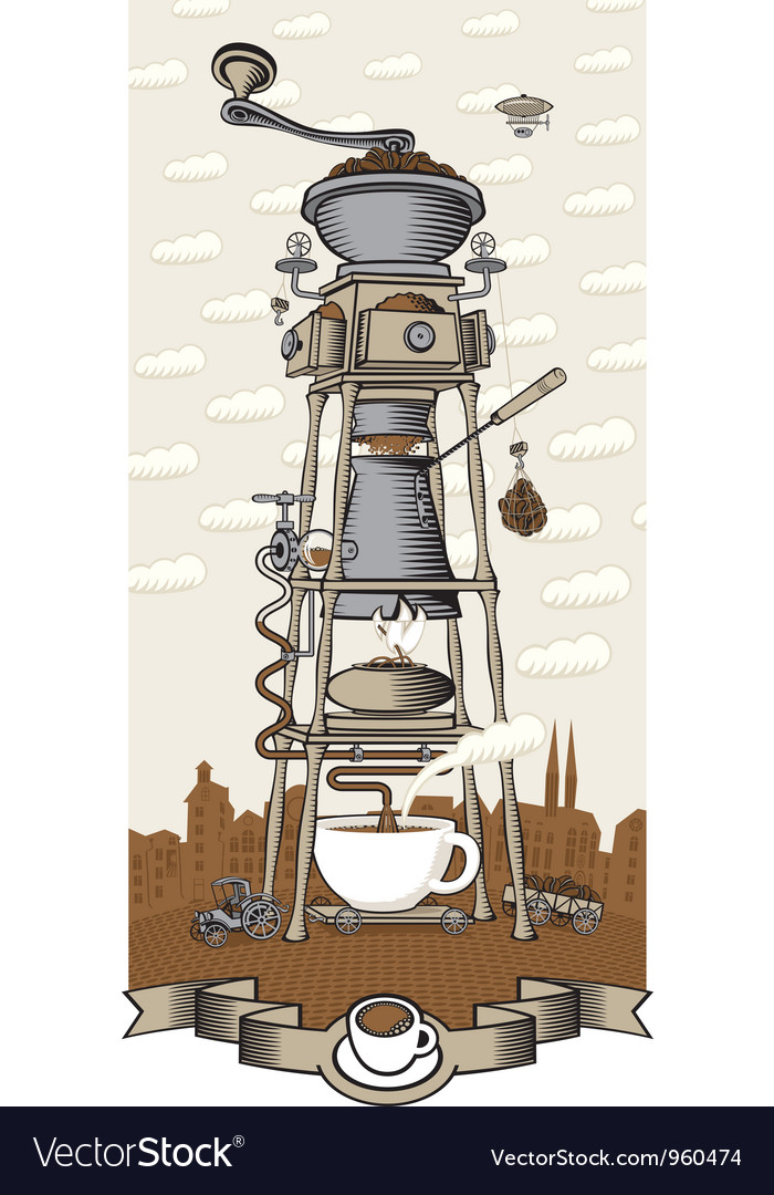 Coffee house in the city vector | Price: 3 Credit (USD $3)
