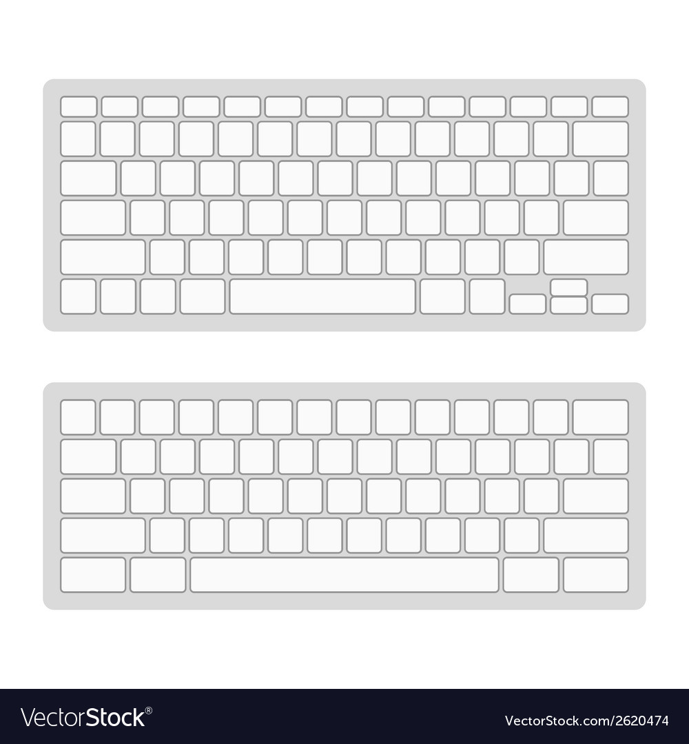 Computer keyboard blank template set vector | Price: 1 Credit (USD $1)