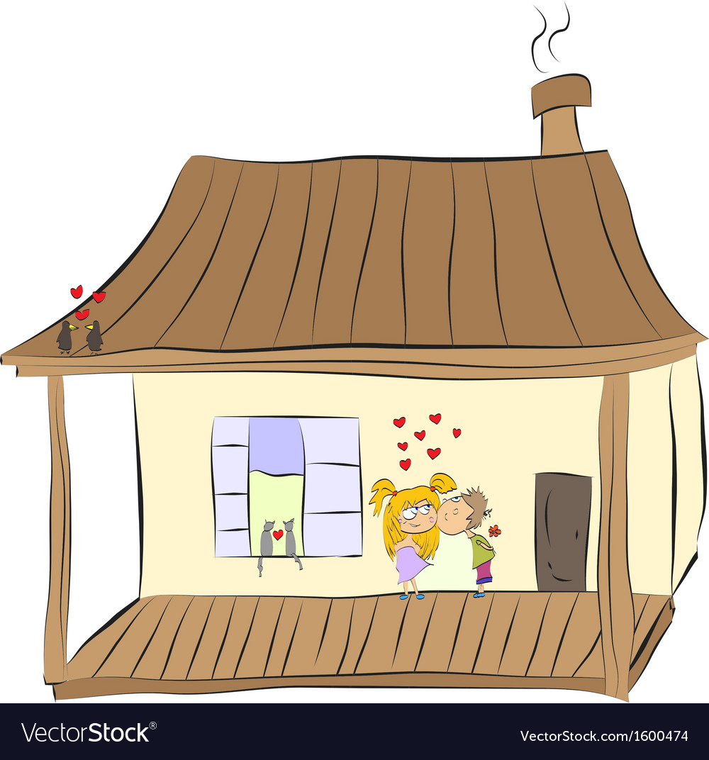 Cozy home happy loving couple vector | Price: 1 Credit (USD $1)