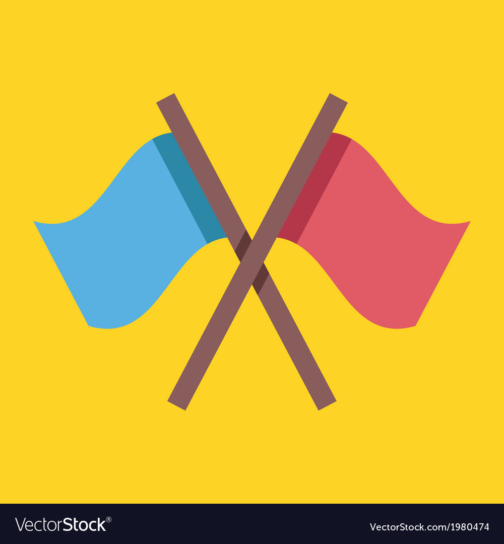 Crossed flags icon vector | Price: 1 Credit (USD $1)