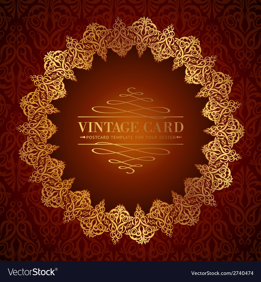 Golden damask circle vector | Price: 1 Credit (USD $1)