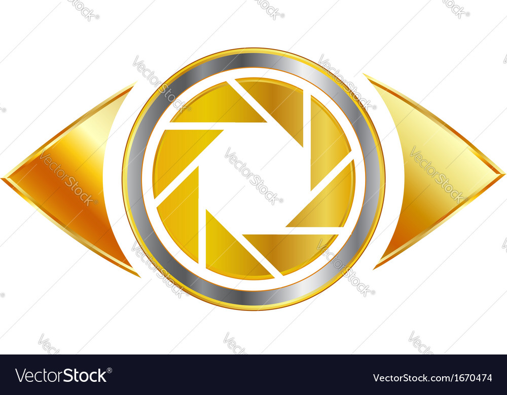 Golden eye photography logo vector | Price: 1 Credit (USD $1)
