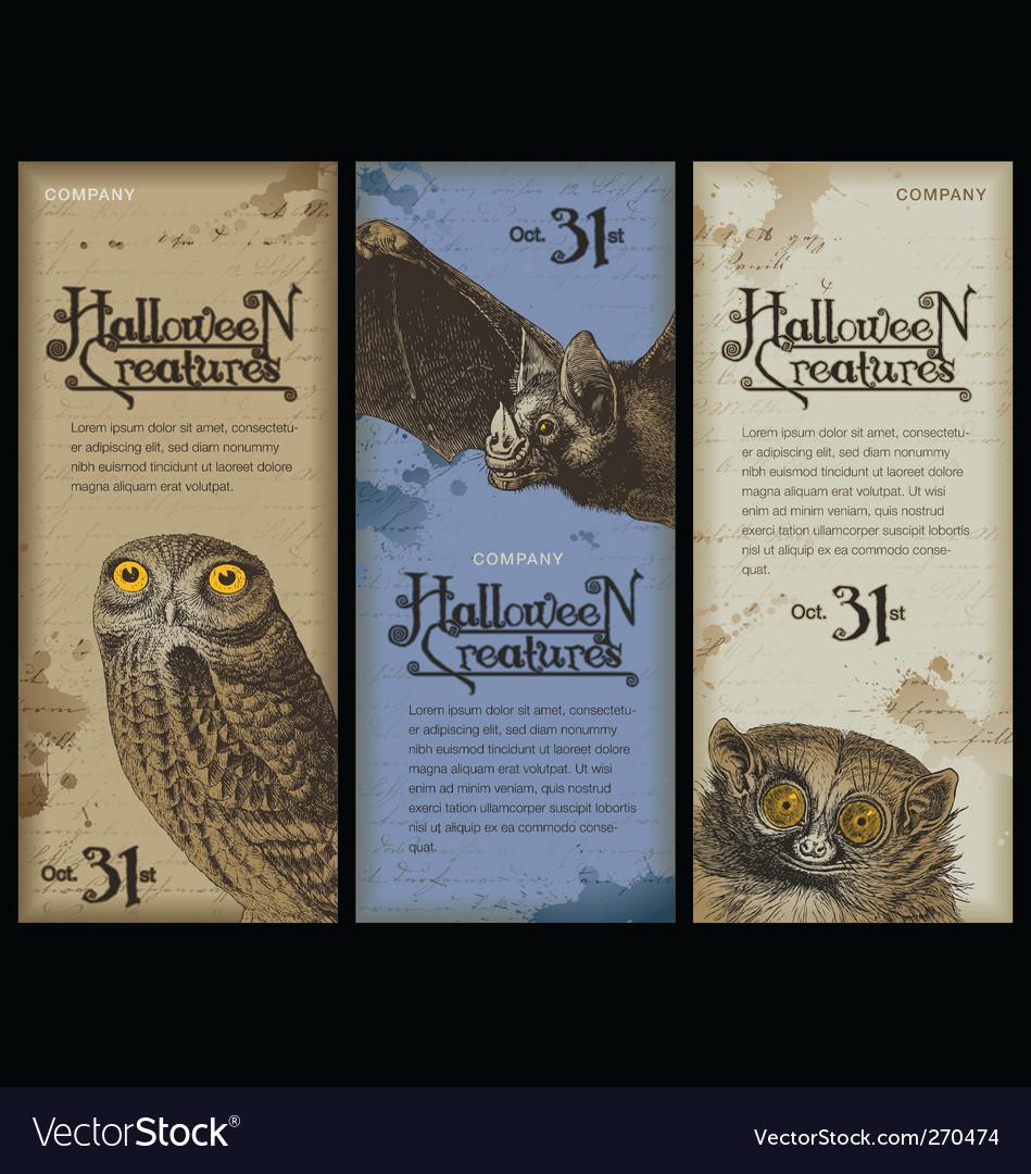 Halloween creatures vector | Price: 1 Credit (USD $1)