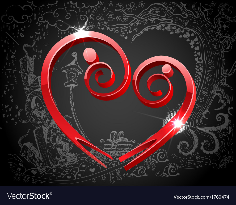 Male and female forming love symbol vector | Price: 1 Credit (USD $1)