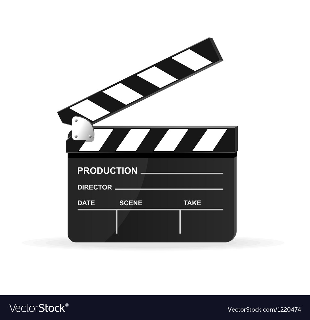 Movie clapper board vector | Price: 3 Credit (USD $3)