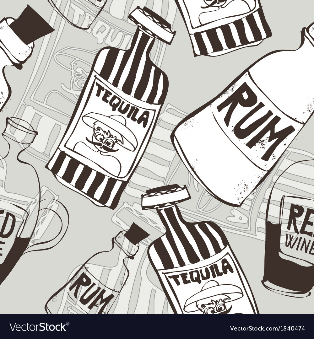 Seamless background with bottles vector | Price: 1 Credit (USD $1)