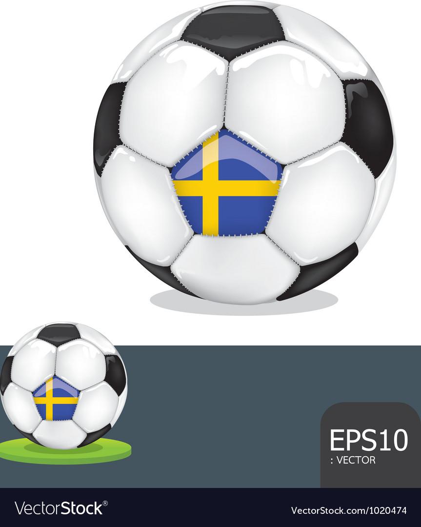 Soccer ball sweden euro vector | Price: 1 Credit (USD $1)