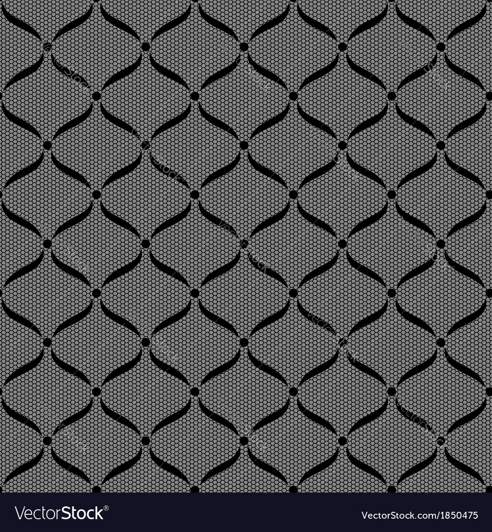 Black seamless lace pattern vector