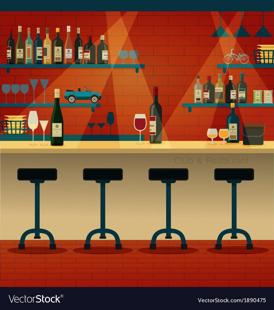 Club restaurant vector | Price: 3 Credit (USD $3)