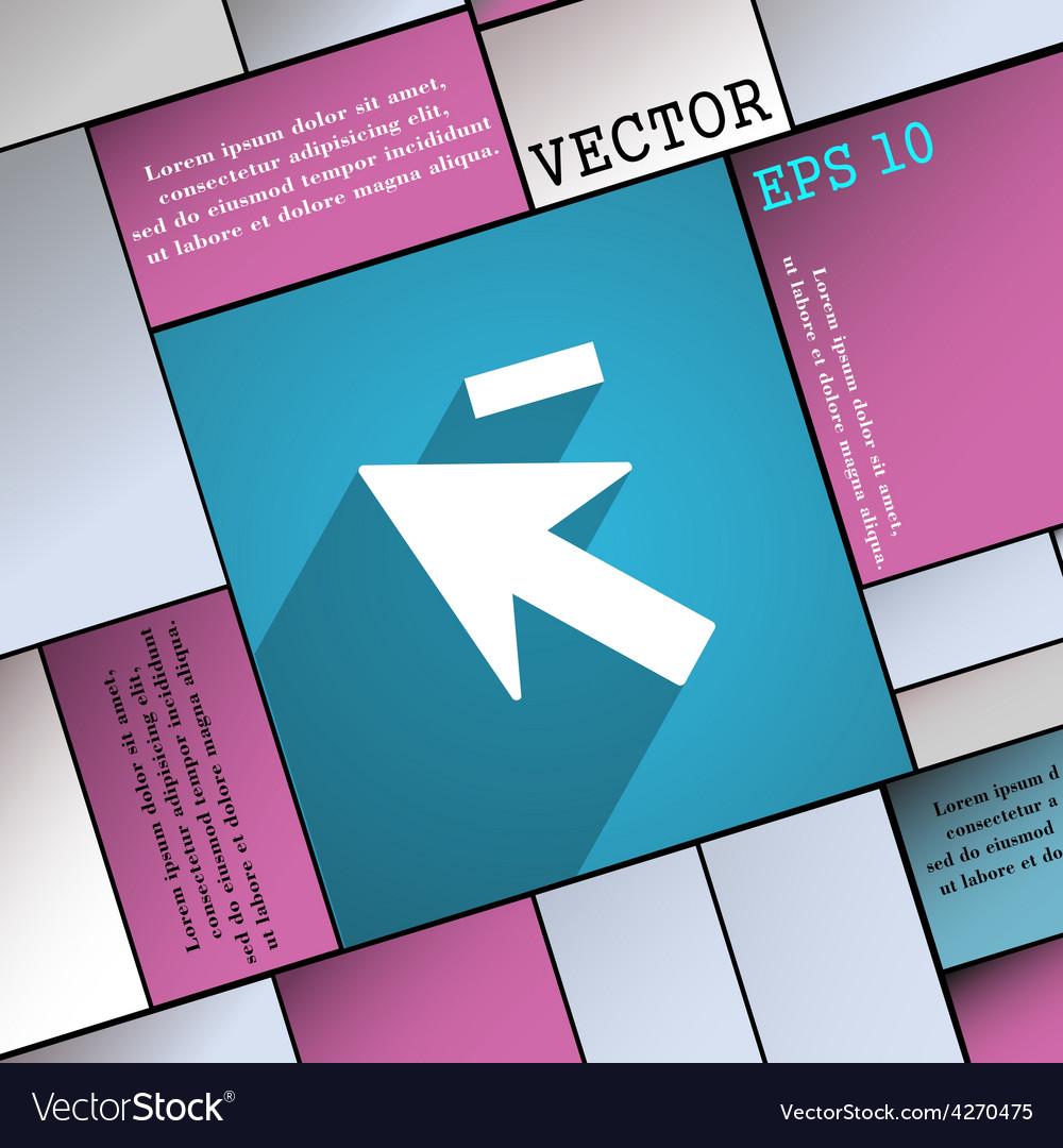 Cursor arrow minus icon symbol flat modern web vector | Price: 1 Credit (USD $1)