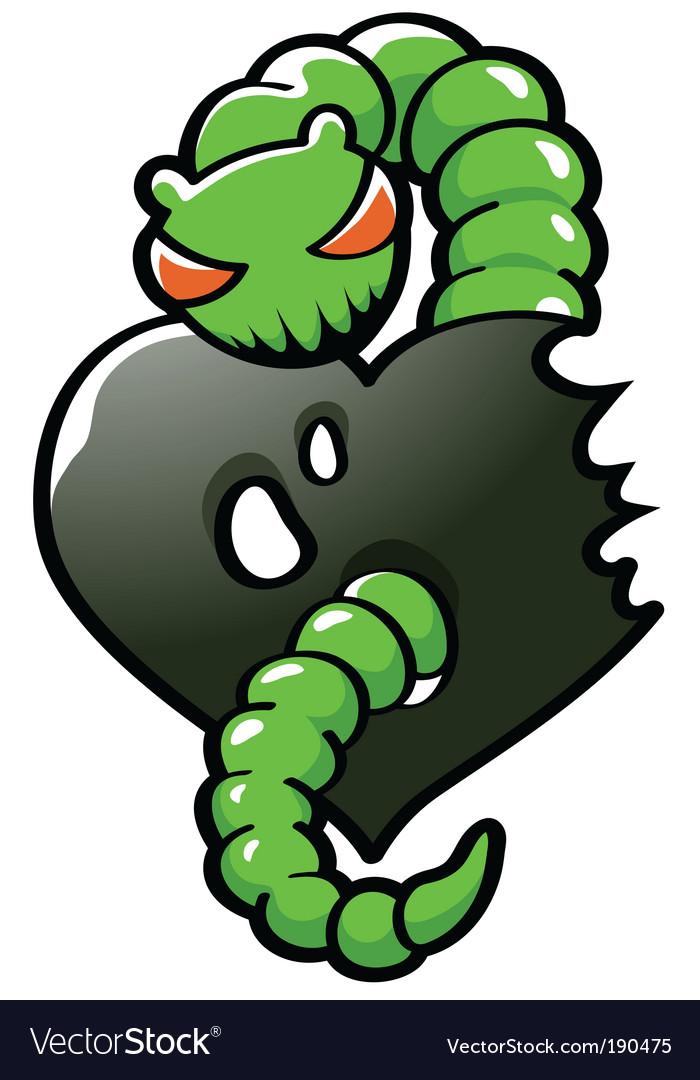 Envy worm vector | Price: 1 Credit (USD $1)