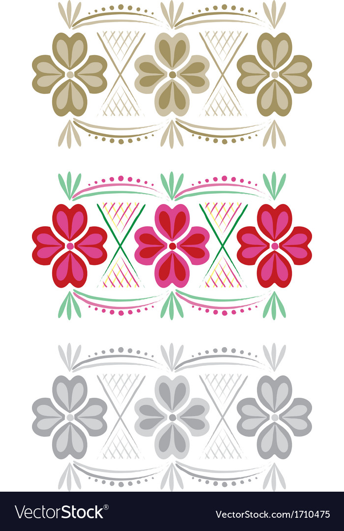 Floral pattern or border vector   Price: 1 Credit (USD $1)