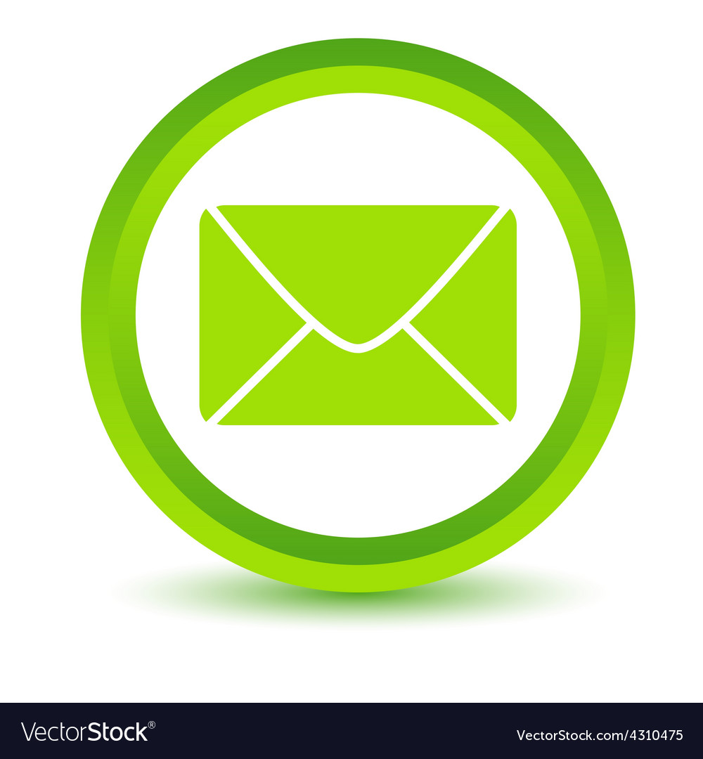 Green mail icon vector | Price: 1 Credit (USD $1)