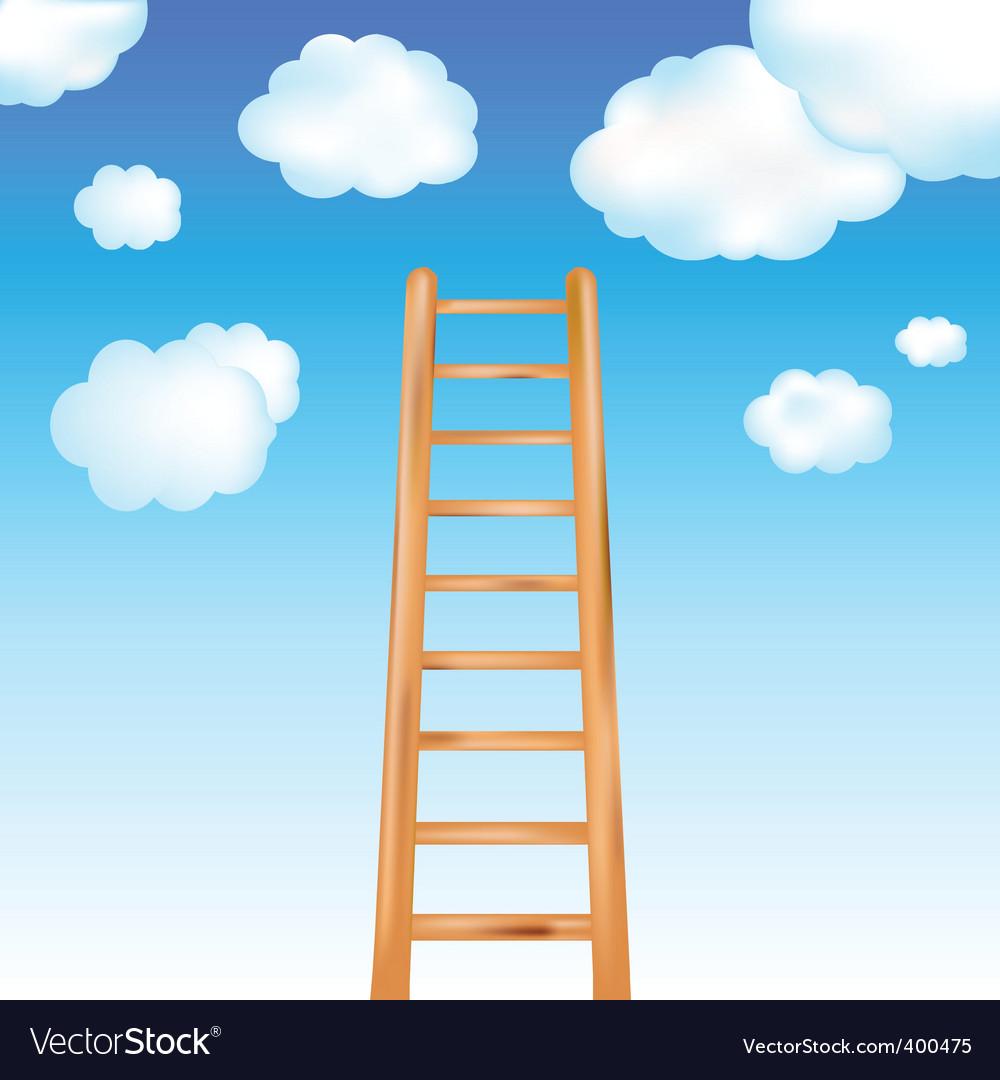 Ladder in sky vector   Price: 1 Credit (USD $1)