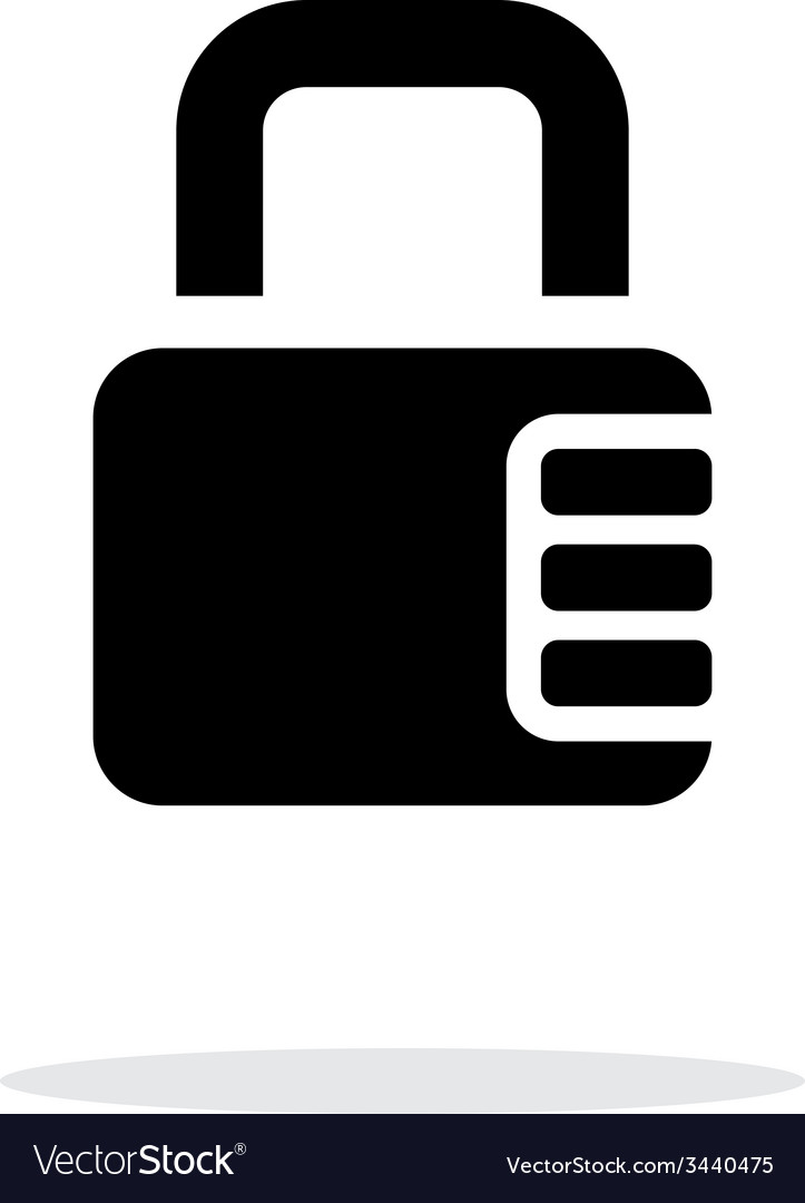 Lock with password icon on white background vector | Price: 1 Credit (USD $1)
