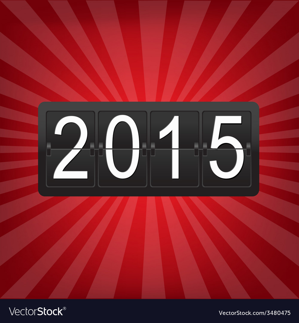 New years counter with sunburst vector | Price: 1 Credit (USD $1)