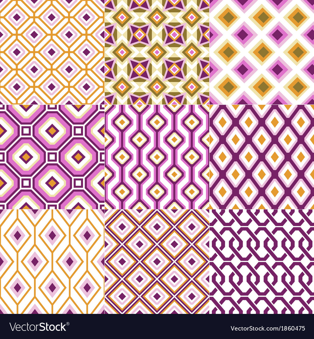 Seamless retro geometric wallpaper vector | Price: 1 Credit (USD $1)